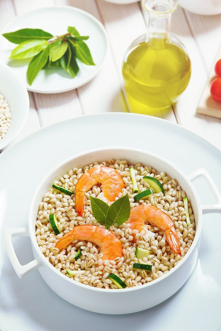 Farro-with-Prawns-Basil-and-Olives